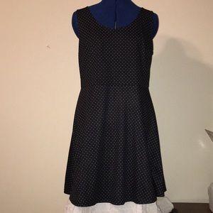H&M black pokadot dress